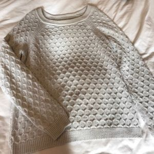 Old Navy - Neutral Textured Dot Sweater - L